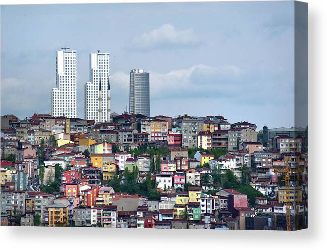 Istanbul Canvas Print featuring the photograph New Istanbul by Alain Bachellier