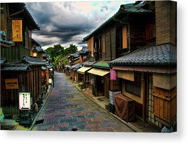 Tranquility Canvas Print featuring the photograph Old Kyoto by Copyright Artem Vorobiev
