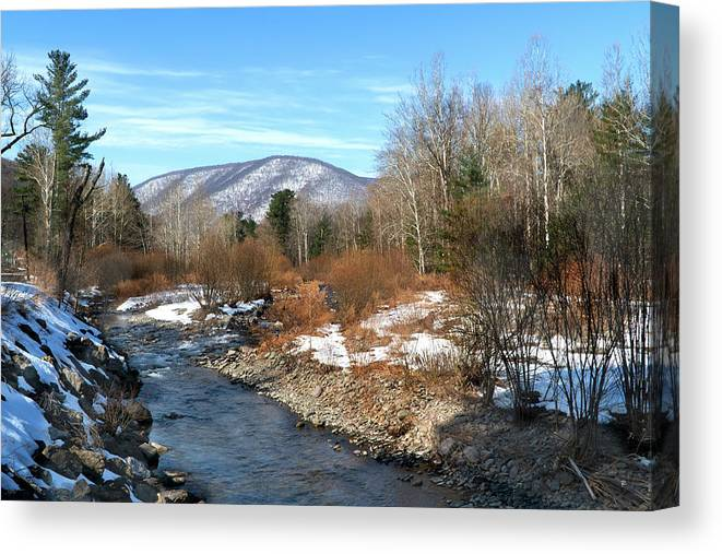 Landscape Canvas Print featuring the photograph On the Way to Peekamoose Mountain by Tom Romeo