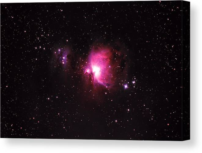 Natural Gas Canvas Print featuring the photograph Orion Nebula by Plefevre