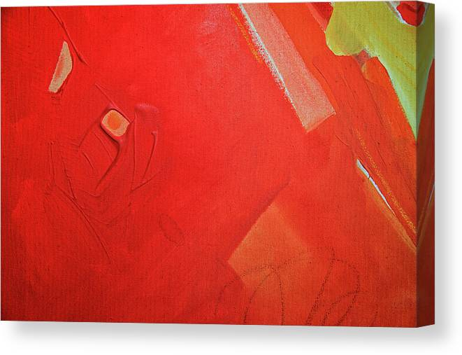 Gouache Canvas Print featuring the digital art Painting On Canvas by Petekarici