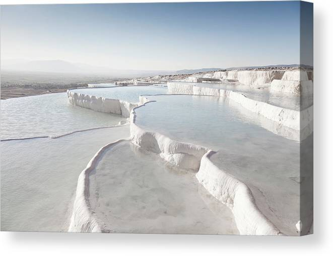 Mineral Canvas Print featuring the photograph Pamukkale by Phooey