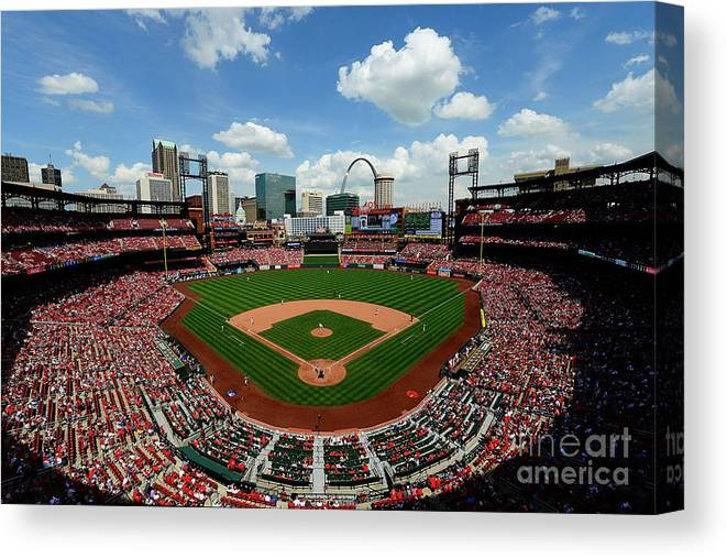 American League Baseball Canvas Print featuring the photograph Pittsburgh Pirates V St Louis Cardinals by Jeff Curry