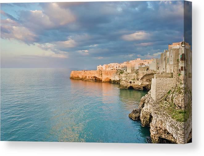 Adriatic Sea Canvas Print featuring the photograph Polignano A Mare On The Adriatic Sea by David Madison