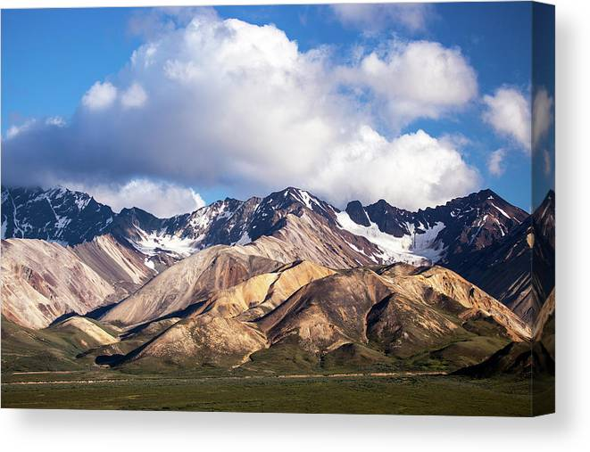 Tranquility Canvas Print featuring the photograph Polychrome Overlook View by Daniel A. Leifheit