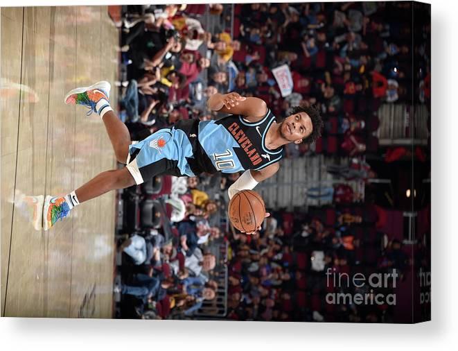 Nba Pro Basketball Canvas Print featuring the photograph Portland Trailblazers V Cleveland by David Liam Kyle