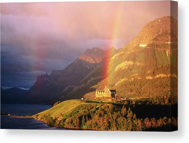 Scenics Canvas Print featuring the photograph Prince Of Wales Hotel, At The End Of A by John Elk
