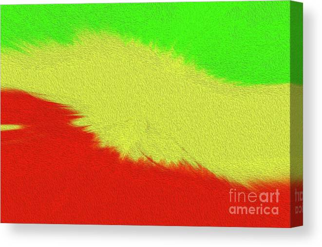Art Print Canvas Print featuring the digital art Rasta Sensation 2 by Kenneth Montgomery