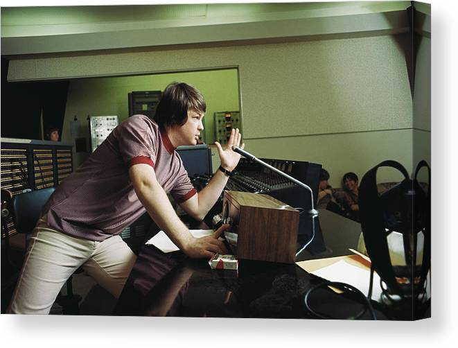 Usa Canvas Print featuring the photograph Recording Pet Sounds by Michael Ochs Archives