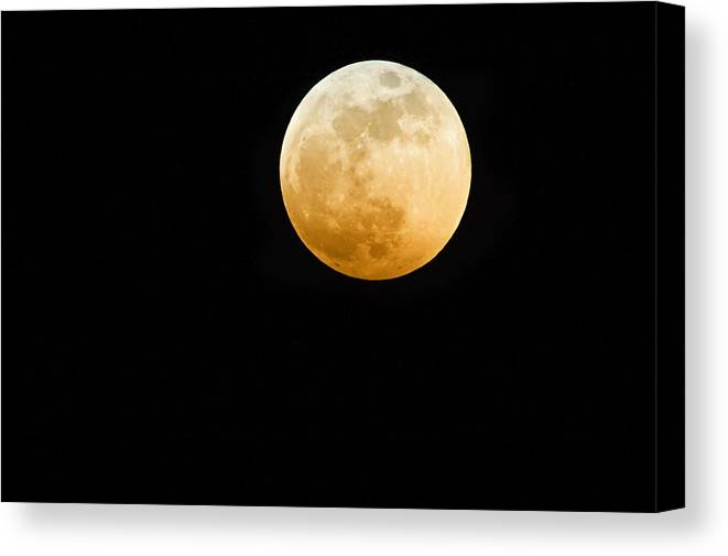 Shadow Canvas Print featuring the photograph Red Moon by Stevedangers