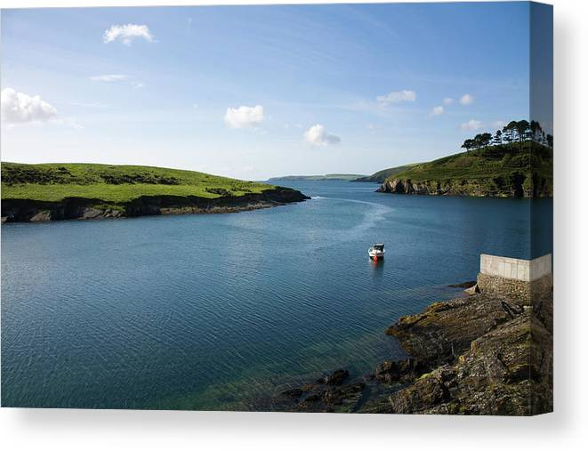 Scenics Canvas Print featuring the photograph Republic Of Ireland, County Cork, Inlet by David Epperson