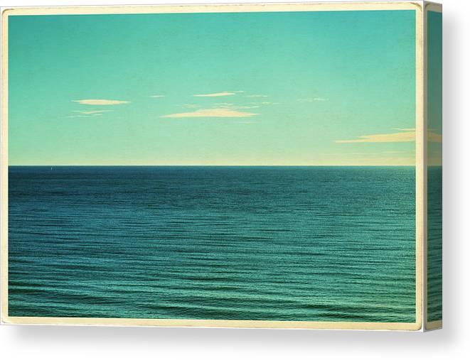Scenics Canvas Print featuring the photograph Retro Seascape Postcard by Farukulay