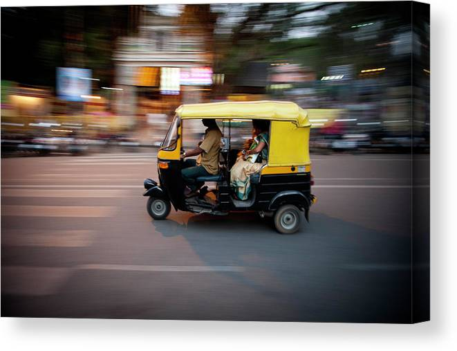 People Canvas Print featuring the photograph Rickshaw by Javi Julio Photography