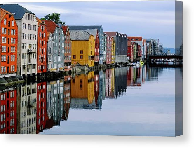 Tranquility Canvas Print featuring the photograph River Accommodation 0.2 by Nir Leshem