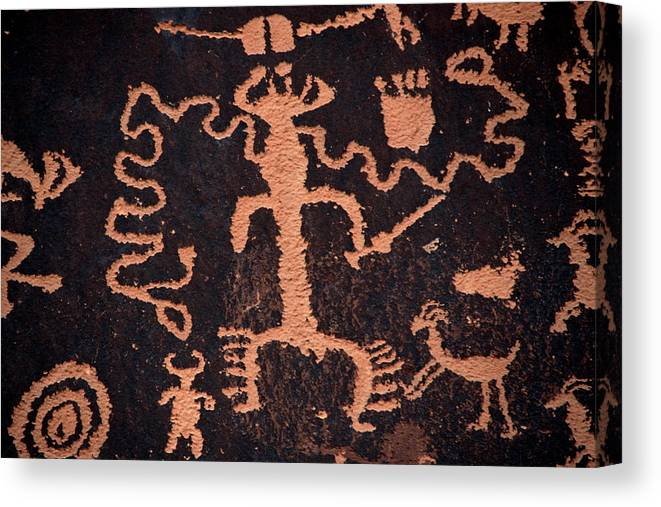 Outdoors Canvas Print featuring the photograph Rock Art by Mark Newman