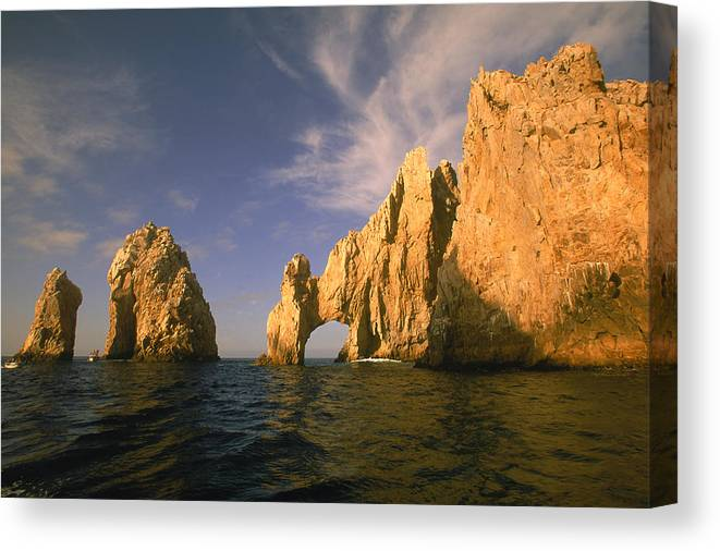 Scenics Canvas Print featuring the photograph Rock Formations, Cabo San Lucas, Mexico by Walter Bibikow