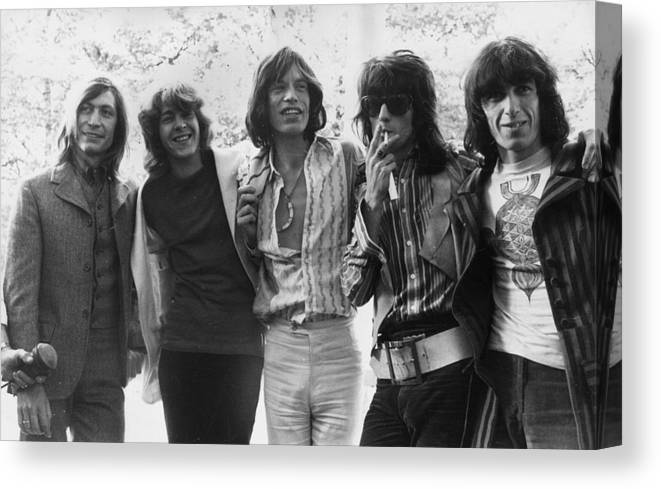 Rock Music Canvas Print featuring the photograph Rolling Stones by J. Wilds