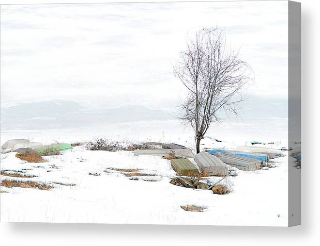 Canvas Print featuring the photograph Rondout Reservoir by Tom Romeo