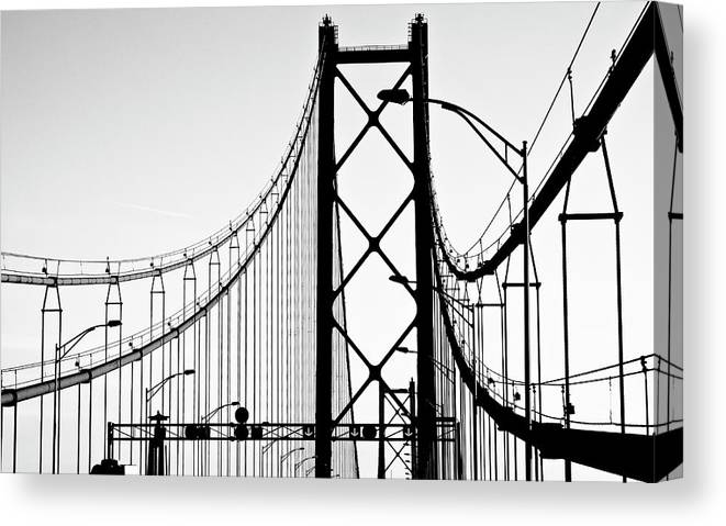 Pole Canvas Print featuring the photograph San Francisco by Znz