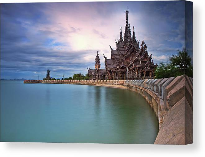 Tranquility Canvas Print featuring the photograph Sanctuary Of Truth by Nutexzles