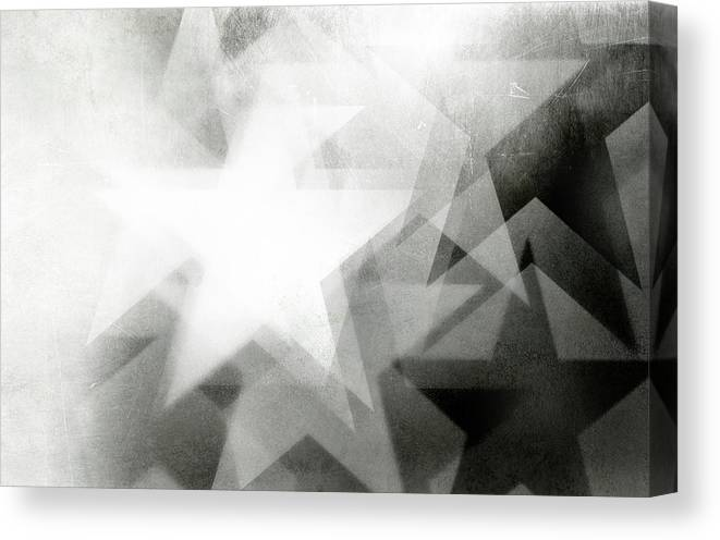 Art Canvas Print featuring the photograph Scratchy Star Background by Loudredcreative