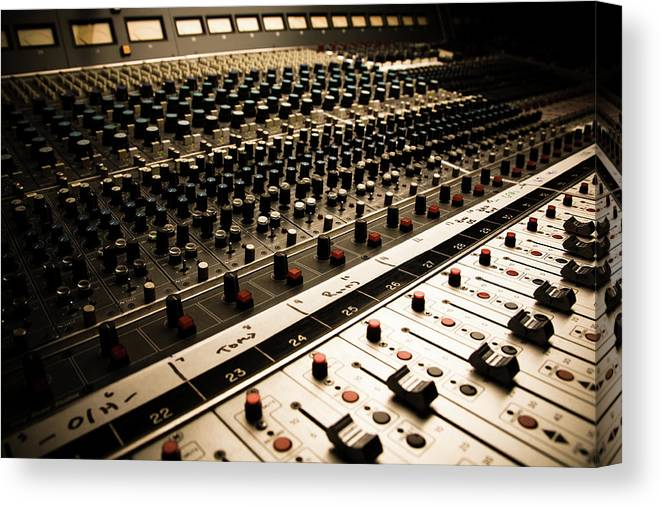 Shadow Canvas Print featuring the photograph Sound Board In Color by Halbergman