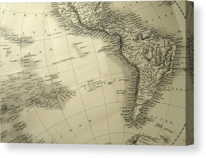 Amazon Rainforest Canvas Print featuring the photograph South America by Belterz