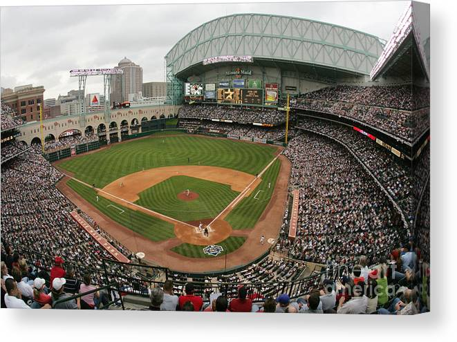 Minute Maid Park Canvas Print featuring the photograph St. Louis Cardinals V Houston Astros by Ronald Martinez
