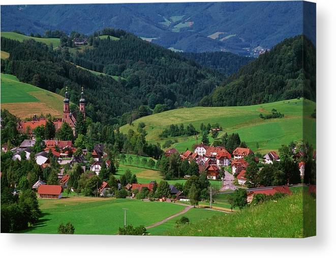 Architectural Feature Canvas Print featuring the photograph St. Peters Abbey, Black Forest, Germany by Bilderbuch  / Design Pics