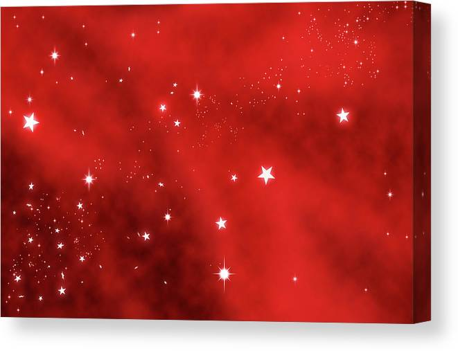 Holiday Canvas Print featuring the photograph Stars Background by Enter89