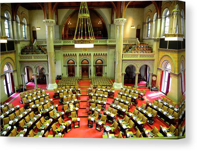 Arch Canvas Print featuring the photograph State House Capitol Building, Albany by Dennis Macdonald