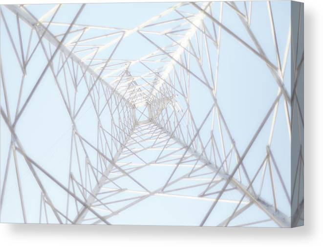 Radial Symmetry Canvas Print featuring the photograph Steel Tower by Kaneko Ryo
