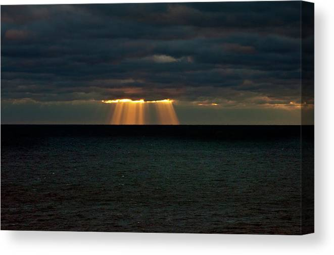 Lake Michigan Canvas Print featuring the photograph Storm Brewing by By Ken Ilio