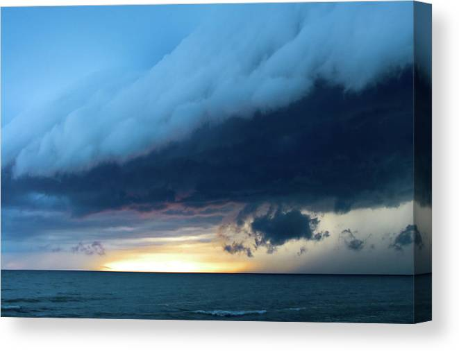 Water's Edge Canvas Print featuring the photograph Storm Cell by Djphotography