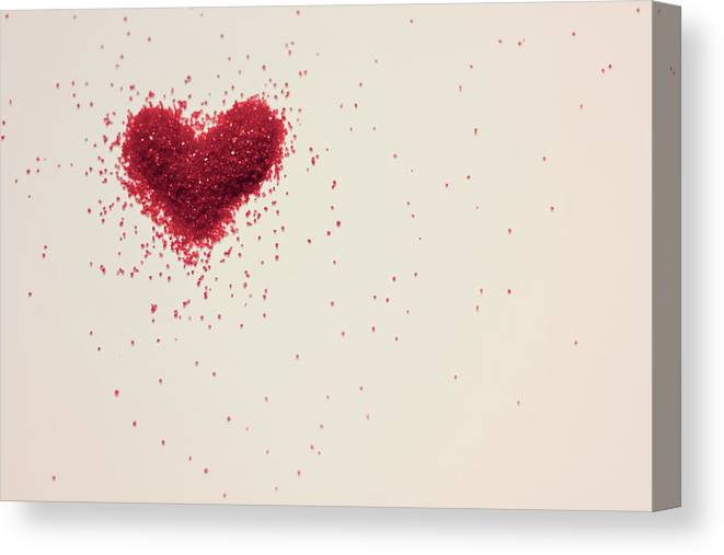 Art Canvas Print featuring the photograph Sugar Heart by Amy Weekley