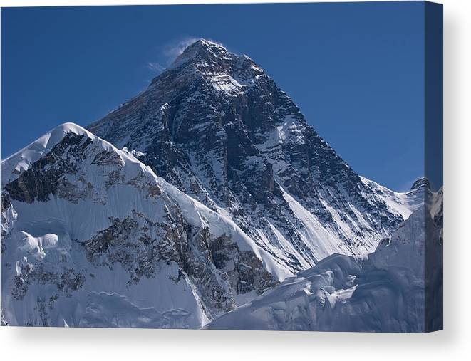 Scenics Canvas Print featuring the photograph Summit Of Mt Everest8850m Great Details by Diamirstudio