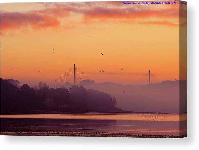 Scenics Canvas Print featuring the photograph Sunrise by All Images Taken By Keven Law Of London, England.