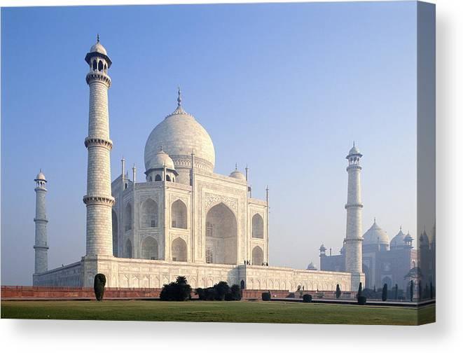 Scenics Canvas Print featuring the photograph Taj Mahal, Agra, Uttar Pradesh, India by Frans Lemmens