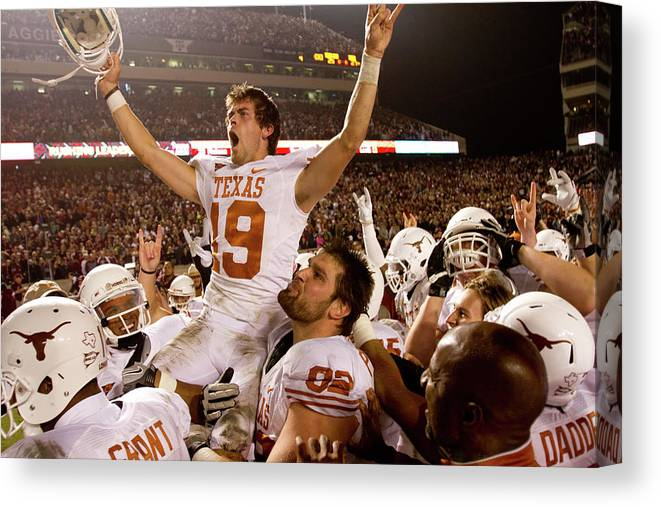 College Station Canvas Print featuring the photograph Texas V Texas A&m by Darren Carroll