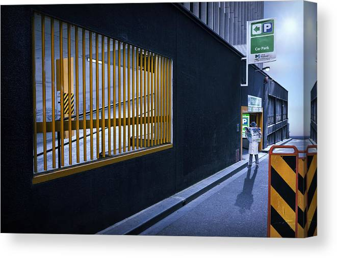 Melbourne Canvas Print featuring the photograph The Car Park by Adrian Donoghue