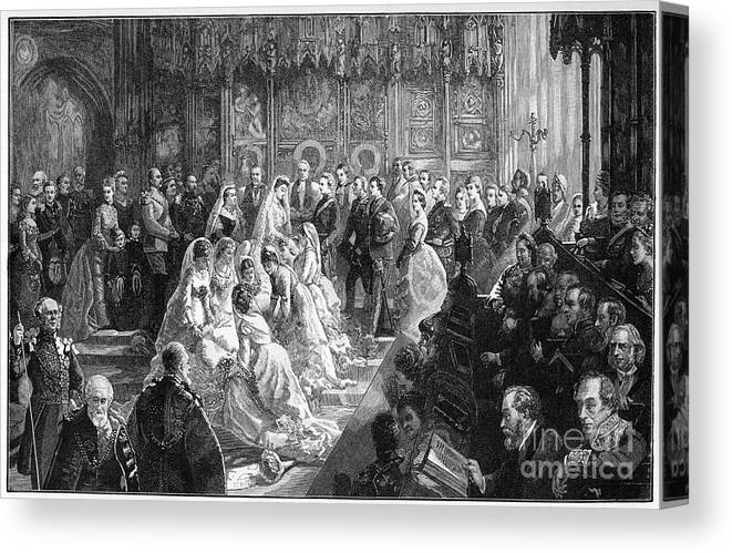 Event Canvas Print featuring the drawing The Marriage Of Princess Louise, 21 by Print Collector