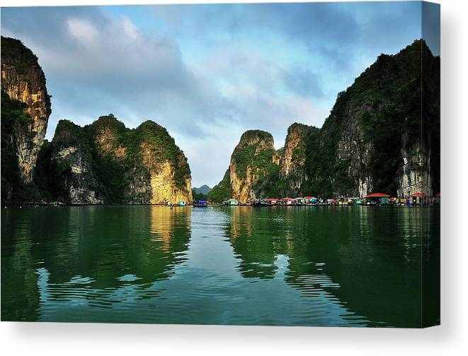 Scenics Canvas Print featuring the photograph The Scenic Of Halong Bay by Photo By Sayid Budhi