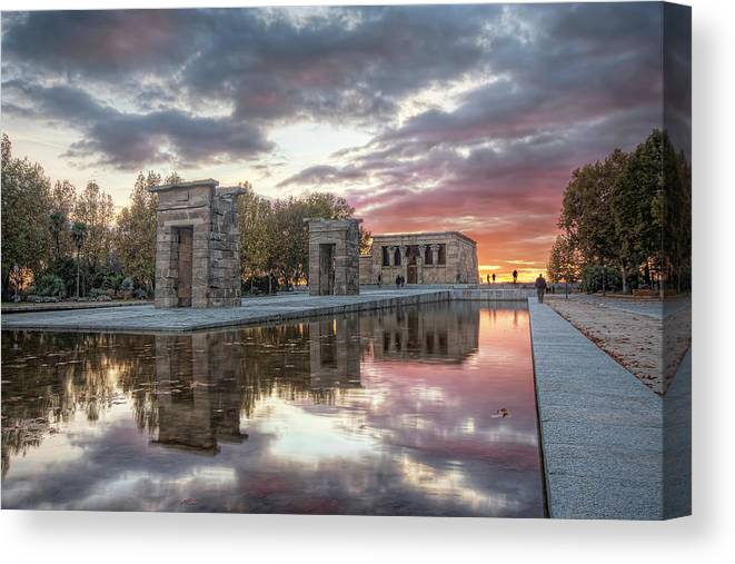 Arch Canvas Print featuring the photograph The Twilight Of The Gods by Servalpe