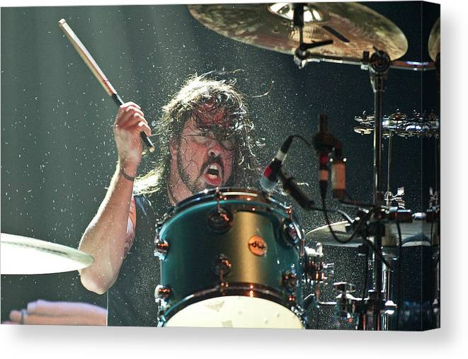 Event Canvas Print featuring the photograph Them Crooked Vultures Perform At by Neil Lupin