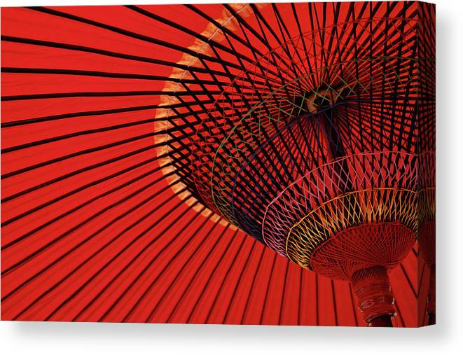 Kyoto Prefecture Canvas Print featuring the photograph Traditional Tone by Sunnywinds