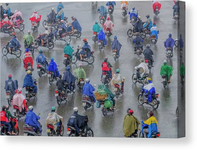 Ho Chi Minh City Canvas Print featuring the photograph Traffic In Ho Chi Minh City by Rwp Uk