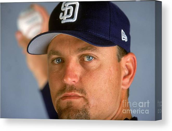 Peoria Sports Complex Canvas Print featuring the photograph Trevor Hoffman 51 by Brian Bahr
