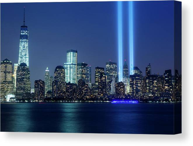 Tranquility Canvas Print featuring the photograph Tribute In Lights by Nathan Blaney