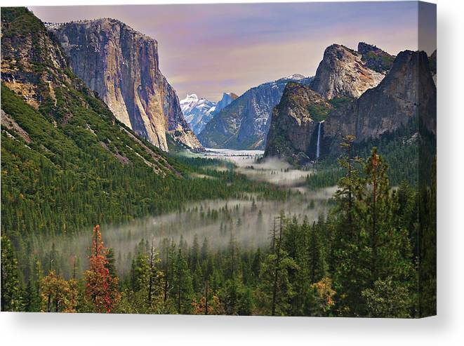 Scenics Canvas Print featuring the photograph Tunnel View. Yosemite. California by Sapna Reddy Photography