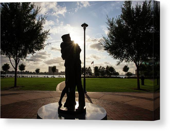 Sailor Canvas Print featuring the photograph Victory Embrace by Fred DeSousa